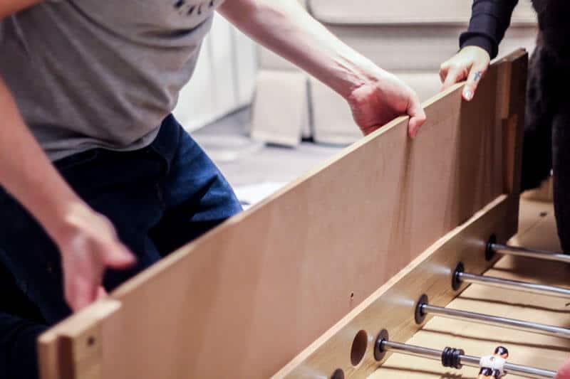 Kicker Tisch bauen Team Event 03