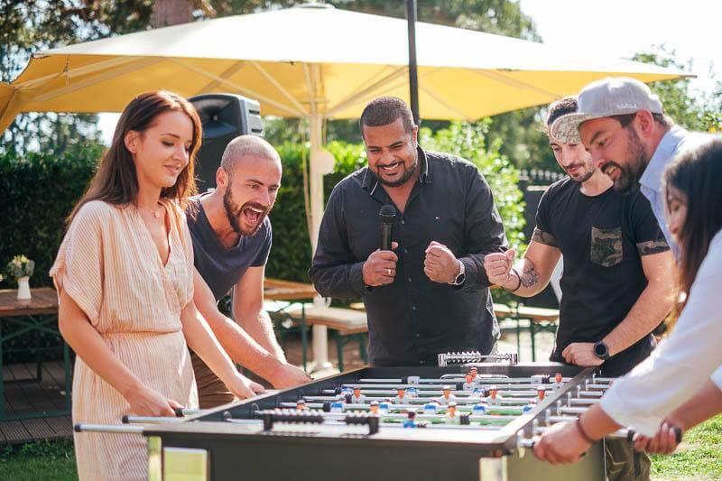 Kicker Tisch bauen Team Event 04